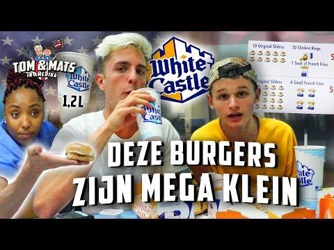 10 MINI-BURGERS EN 1,2 LITER DRINKEN VOOR €10! 🍔🏰 | Tom & Mats in Amerika #7