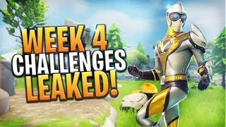 *NEW* WEEK 4 Challenges LEAKED! Treasure Map, Search Chests and More! - Fortnite: Battle Royale