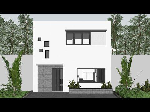 Desain Rumah Minimalis Gaya Jepang 6x6 2 Lantai Suite