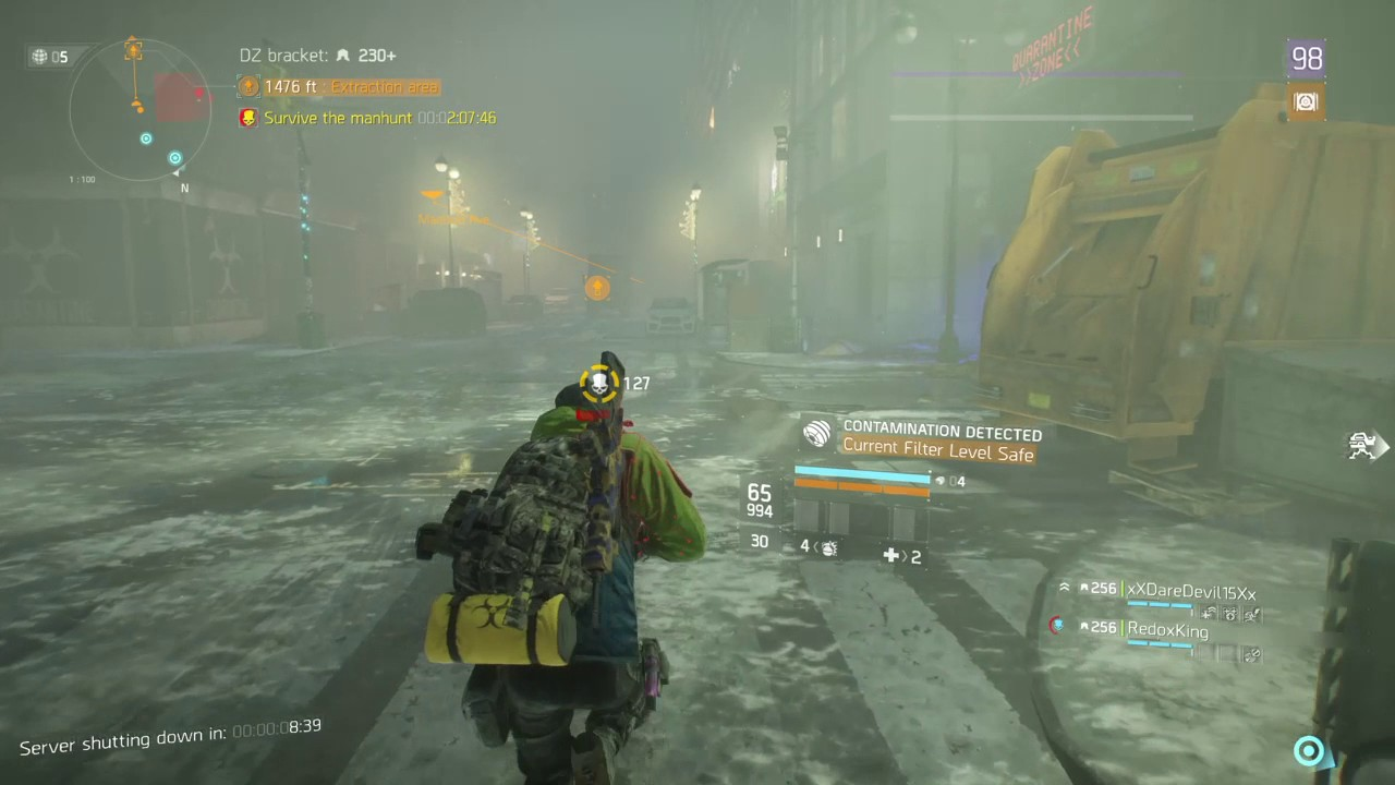 Tom Clancy's The Division™ server shutdown Manhunts