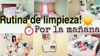 RUTINA DE LIMPIEZA POR LA MAÑANA🌞Motivate a limpiar conmigo🏡Tips de Limpieza- clean with me-MARCEL