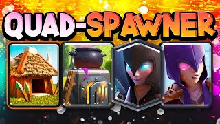 BEST SPAWNER DECK in Clash Royale HISTORY! QUADRUPLE SPAWNER