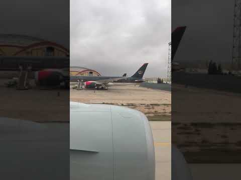 Qatar Airways B777 Taxi and Take Off from Amman to Doha