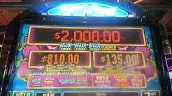 Plum Crazy slot machine bonus round at Sands casino