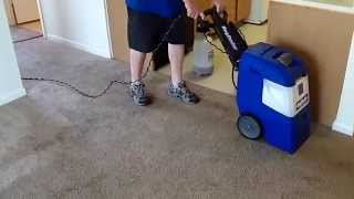 Rug Doctor X-3 Cleaning A Dirty Living Room Carpet