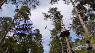 Die längste Seilabfahrt Deutschlands über den Igelsbachsee (Kletterpark Enderndorf am Brombachsee)