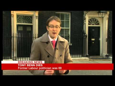 The death of Tony Benn: my live report for BBC Breakfast
