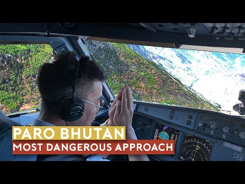 the-world's-most-dangerous-approach---paro,-bhutan