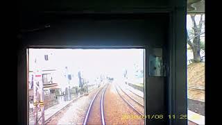 小田急小田原線20180108 前方車窓 相模大野→向ケ丘遊園