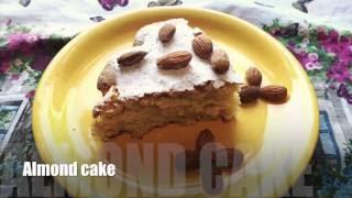 Almond cake without flour - recipe