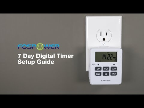 How To Setup Your FosPower 7 Day Outlet Timer Instructional DIY Video FOSCHR-2366US FOSCHR-2383US