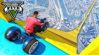 GTA V Online: PRIMEIRA MEGA RAMPA de MOTO 3 RODAS!!! (ÉPICO)