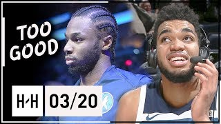 Karl-Anthony Towns & Andrew Wiggins Full Highlights vs Clippers (2018.03.20) - 57 Pts Combined