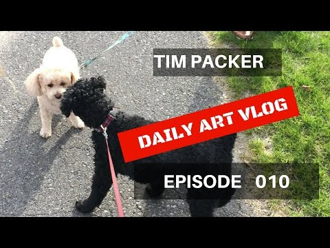 Marley & Costco  - Tim Packer Daily Art Vlog - Episode 010