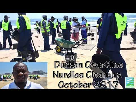 Nurdles pollution clean up, Durban