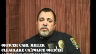 OFFICER CARL MILLER OF CLEARLAKE CALIFORNIA. AMERICAS MOST WANTED ALL-STAR NOMINEE