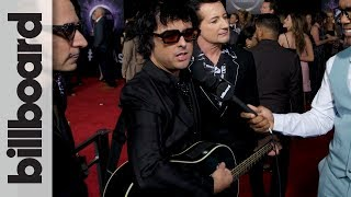 Green Day joins Billboard on the red carpet of the 2019 American Mu...
