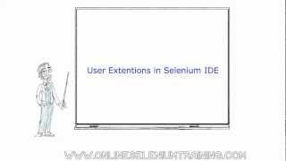 13. How to use user extensions in selenium IDE ? How to use while loop in selenium IDE ?