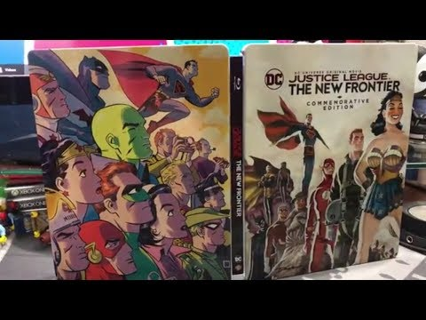 Justice League New Frontier Commemorative Edition Blu Ray Steelbook Unboxing