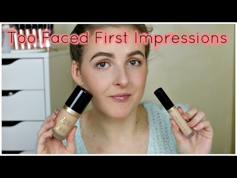 Too Faced Foundation and Concealer First Impressions   Elizabeth Rose