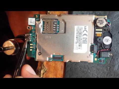 LG E430 Optimus L3 II не заряжается. замена гнезда зарядки
