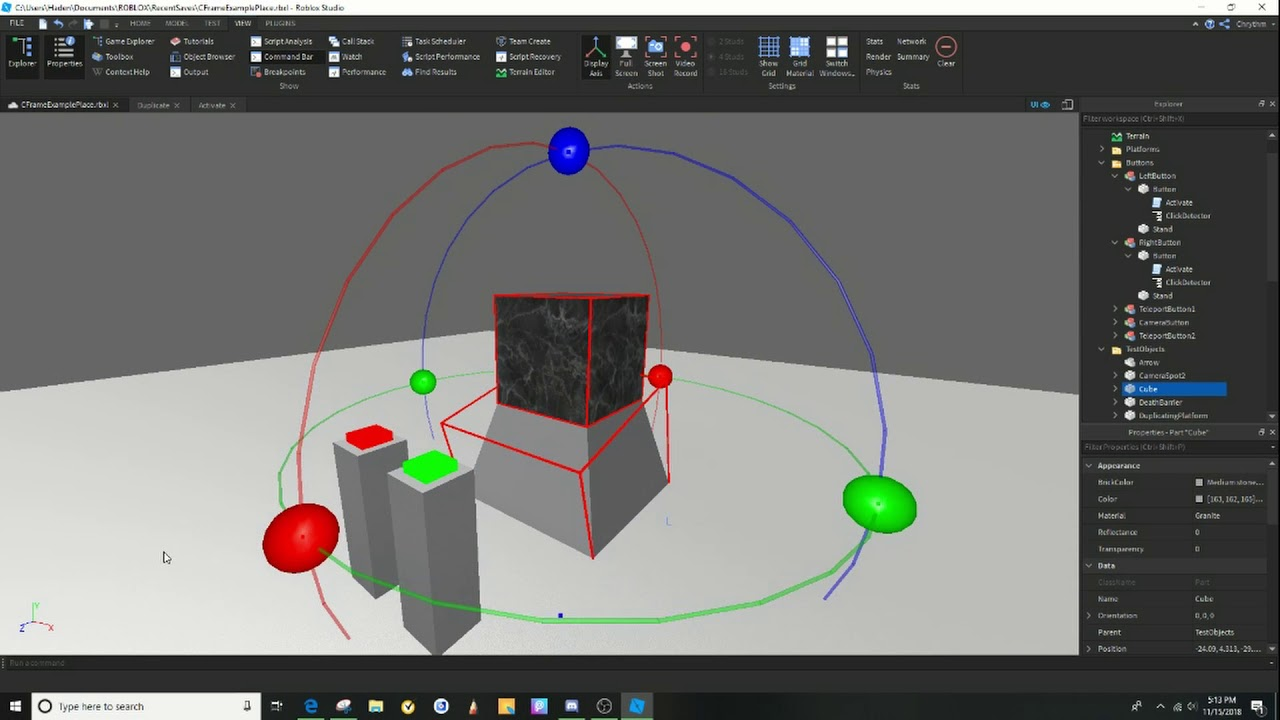CFrame Basics - Roblox Scripting Tutorial
