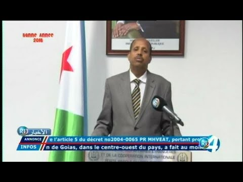 Télé Djibouti Chaine Youtube : JT Somali du 02/01/2018