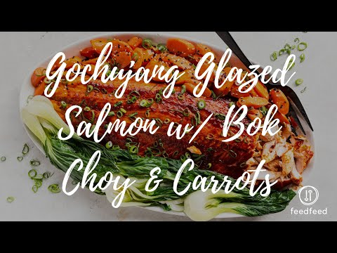 Gochujang Glazed Salmon w/ Bok Choy & Carrots