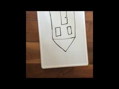 Drawing An Upside Down House(white Board) Stop Motion Drawing