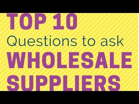 Amazon FBA Wholesale Suppliers: Top 10 Questions to ask