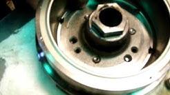 Yamaha Vmax Peen Bolts on Starter Clutch.avi