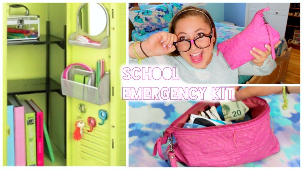 Back To School Locker Organization School Survival Kit Youtube