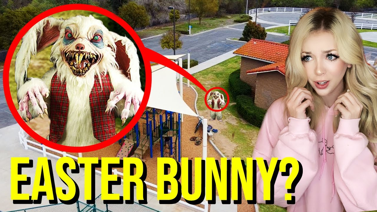 Download DRONE CATCHES EASTER BUNNY AT HAUNTED PARK!! (HE CAME AFTER US!!)
