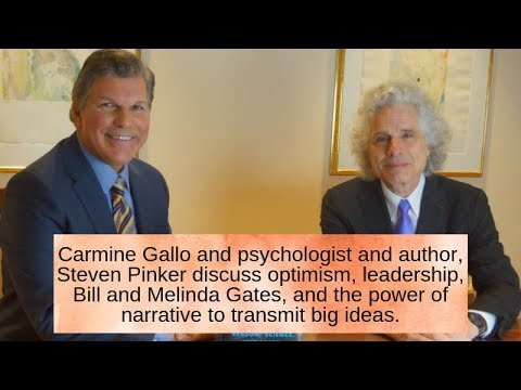 Bestselling authors Carmine Gallo and Steven Pinker