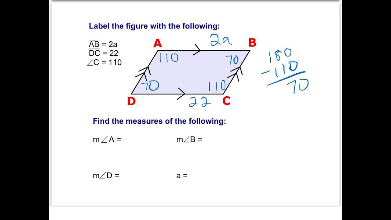 Example Problems With Parallelograms