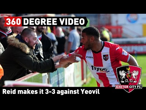 360 DEGREE VIDEO: Reid makes it City 3 Yeovil 3 and fans celebrate