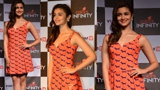 Alia Bhatt In Ami Patel Custom Dress At Color's Latest Channel Launch