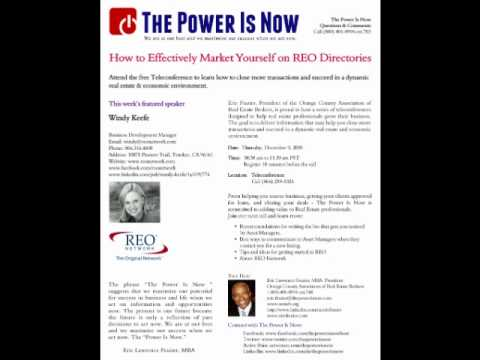 How to effectively market yourself on REO Director...