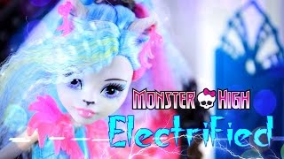 Unbox Daily: Monster High Electrified - Silvi Timberwolf - Doll Review - 4K