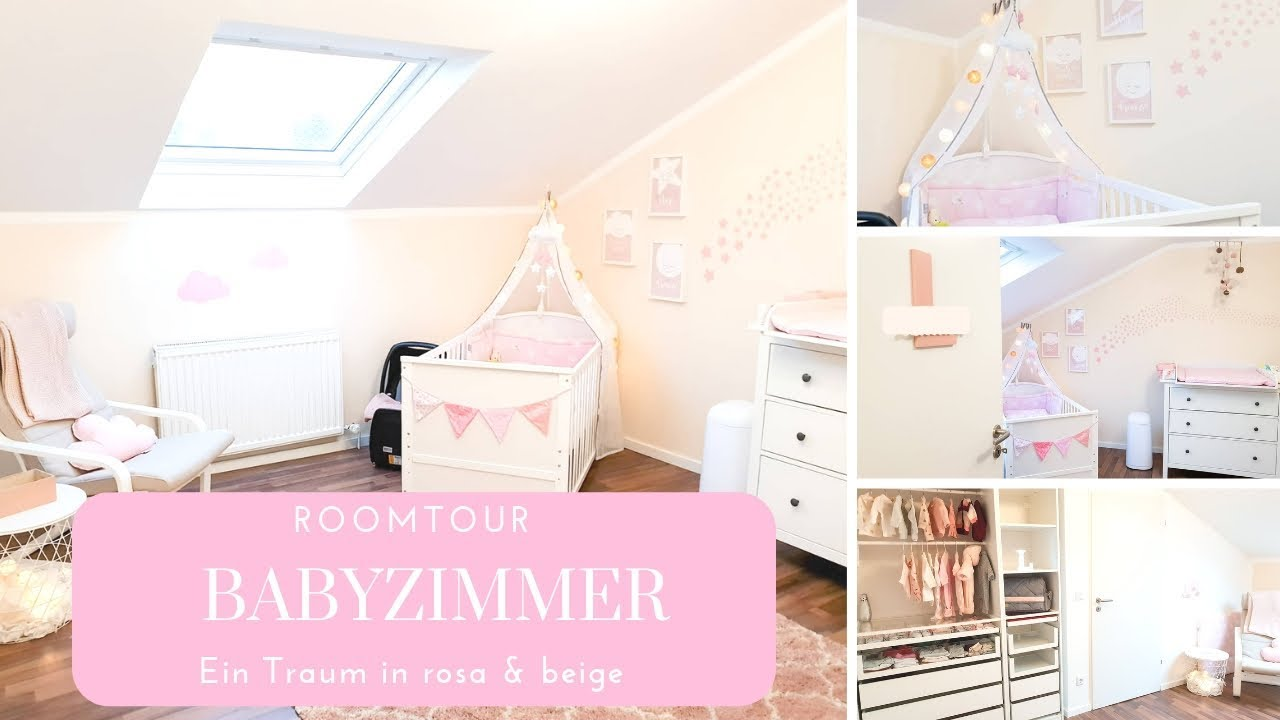Roomtour Babyzimmer Madchentraum In Rosa Beige Youtube
