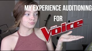 My Experience Auditioning for The Voice + My Actual Audition Tape