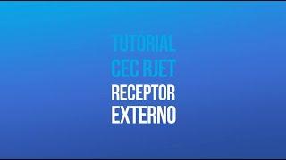 Tutorial RJET G1 - Conexão Receptor Externo