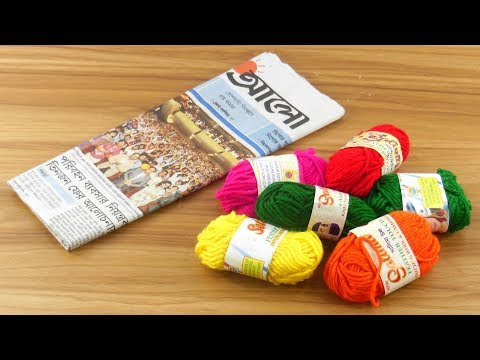 DIY Easy Woolen & Newspaper craft For DIY ROOM DECOR | DIY Room Decor Idea