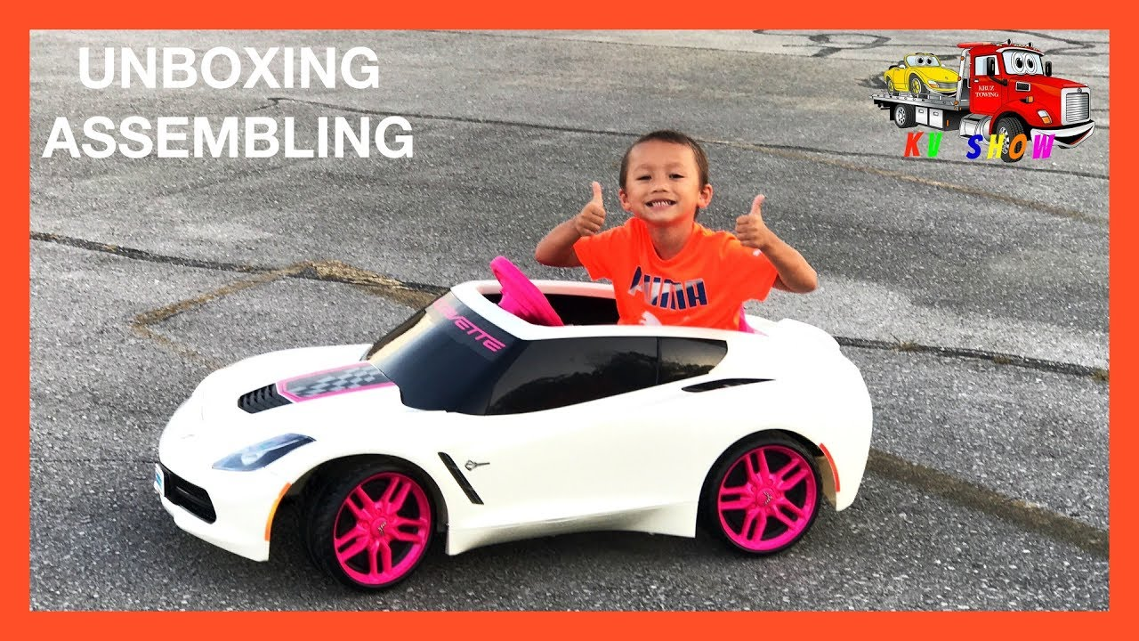 Unboxing Embling The Wheels Corvette 6v Battery Ed Ride On For Kids