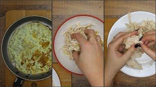 Салат Нежность с курицей и омлетом
