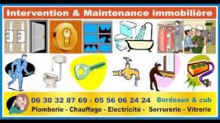 Dépannage urgence Bordeaux serrurier vitrier plombier éléctricien 33(, 2010-04-07T12:30:33.000Z)