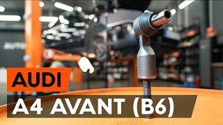 Hoe een stuurkogel vervangen op een AUDI A4 B6 (8E5) [AUTODOC-TUTORIAL]