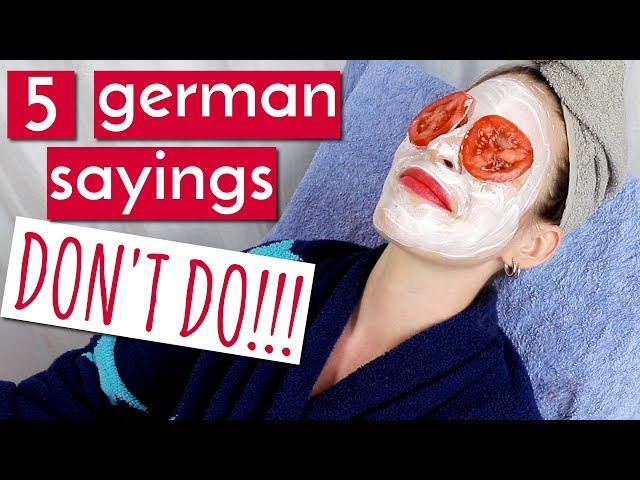 DONT Take These 5 German Sayings Literally!!!