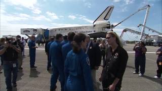 STS-133 Discovery - Welcoming the Astronauts Back