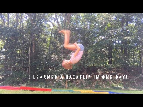 I learned a backflip in one day!